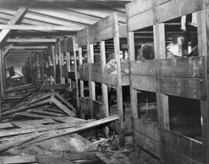 Survivors in a barracks in Bergen-Belsen at liberation.