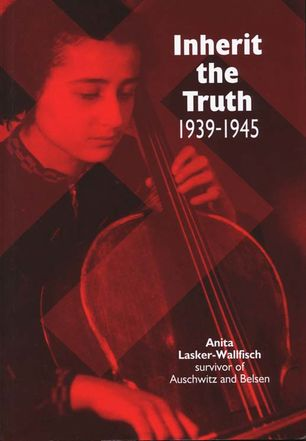 Photo of young Anita Lasker-Wallfisch playing cello.